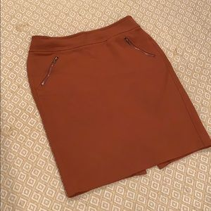Burnt Orange Pencil Skirt